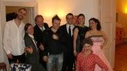 Gruppbild med Kronprinsessan Victoria och prins Daniel