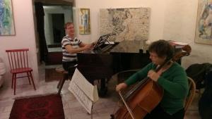 Repetition inför minneskonsert i Betlehemskyrkan