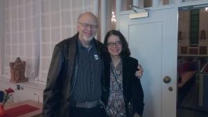 Bo-Urban tillsammans med sin fru Gunilla efter den stora julkonserten i Annedalskyrkan!
