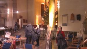 Efter konserten, min kära mor bland artisterna Tina Glenvik, Matts Johansson och Salomon Helperin.