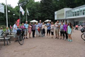 Mina underbara vänner och familj som kom för att lyssna på sista konserten för den här sommaren i Slottskogen!