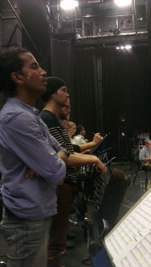 Första samsjungning med orkestern