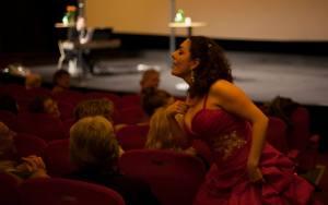 På biograf Draken inför filmvisning av Regnbågenssång. Foto Linda Ivarsson