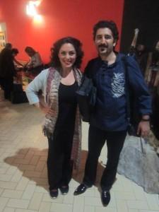 Efter konserten tillsammans med Mehdi Mortezaei