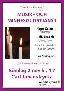 Musik- och minnesgudstjänst 2014 affisch