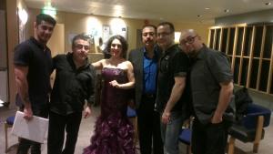 Med Sahpours band backstage på Konserthuset.