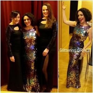 Tillsammans med tjejerna i GRACE när vi underhöll gäster på Sahlgrenska, en kväll med mycket skratt och god sång!