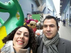 Med Mansour efter inspelningen, med DRAKEN!