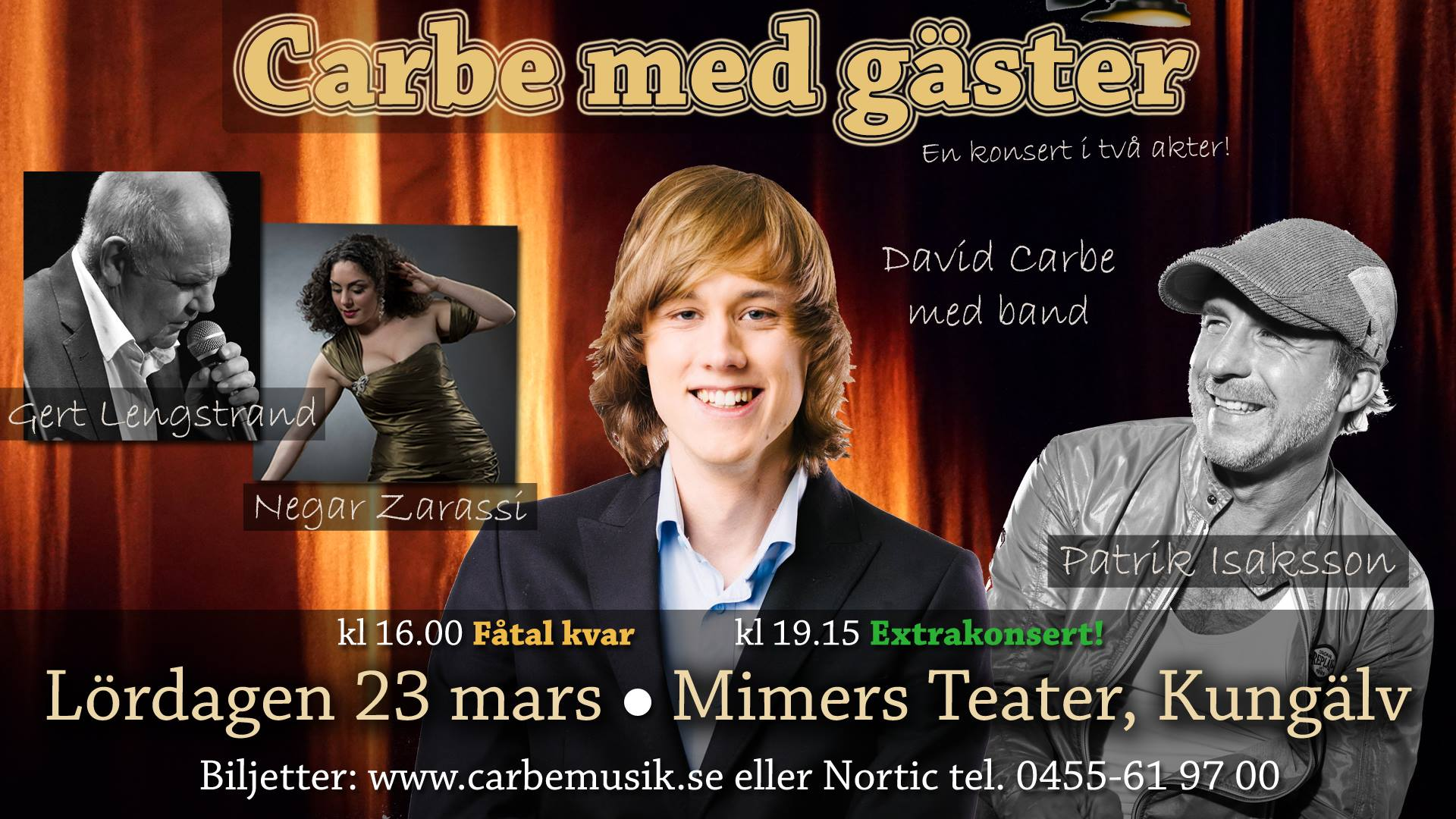david carbe, negar zarassi, gert lengstrand, mimers hus, kungälv, kvartett, konsert, sångerska